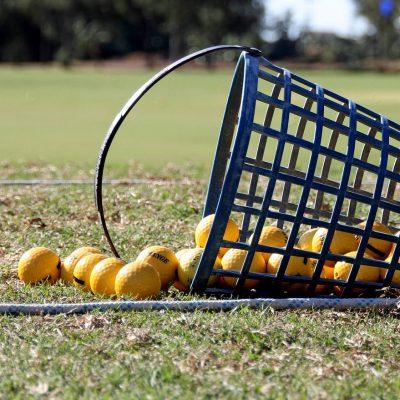 Golf Balls Basket Sport Outdoors Grass Golfing