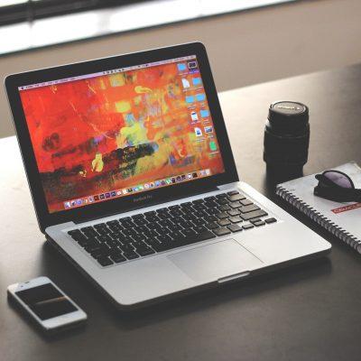 Laptop Mockup Business Office Iphone Macbook Pro